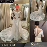 2018 Fashion High Quality V-Neckline Wedding Dress Bridal Gown