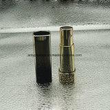Round Plastic Black/Gold Empty Lipstick Tubes Cosmetics Packaging
