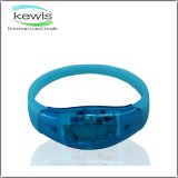 LED Light Silicone ABS Printed Silicone Wristband with Battery