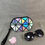 New Fashion Laser PU Make up Bag Geometric Folding Women Travel Cosmetic Bag Organizer Makeup Case Toiletry Bag Kit Beauty Case