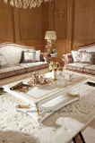 0062-1 Italian Solid Wood Luxury Antique White Coffee Table