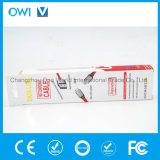 Slim Flat Charger&Transfer Data Cable Red Color with Package