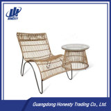 Pes03 PE Leisure Rattan Modern Wicker Table and Chair