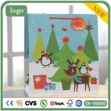 Paper Bag, Coated Paper Christmas Reindeer Bag, Gift Paper Bag