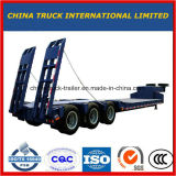 Blue 3axles Excavator Transport Gooseneck Lowboy Low Bed Lowbed Semi Trailer
