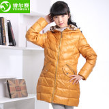 Four Color Body-Shaped Winter Down Jacket for Girl