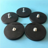 Rubber Coated Neodymium Pot Magnet Permanent Type Rubber Magnetic Base
