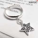 Designer Jewelry Factory 925 Sterling Silver Ring with Star Pendant