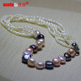 Latest Designs Fashion Baroque Rice Pearl Necklace (E130138)