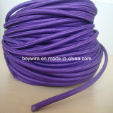 3-Core Purple Round Fabric Wire