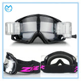 Clearance PC Lens Roll off Motorbike Goggles Made in China