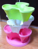 Vertical Flower Pot, Plastic Flower Planter, Stackable Flower Pot (1201, 1210)
