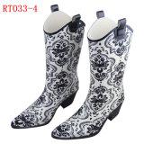 Women Fashion Rubber Rain Boot (RT033-4)