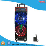 Double 10′′ Multi-Colored Mobile Stage Wireless Speaker F6300t Big Power