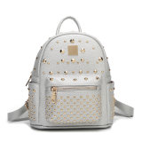 Wholesale Fashion White Rivet School Back Pack Ladies Bag