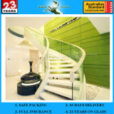 3-19mm Modern Family Curved Glass Stairs Suppliers