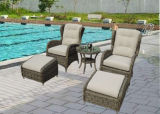 Outdoor Patio PE Rattan Chair Set (kr-010)