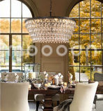 Modern European Iron Metal Art Luxury Bronze E14 LED Crystal Chandelier for Living Room