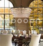 Modern European Iron Metal Art Luxury Bronze E14 LED Crystal Chandelier for Living Room