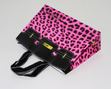 Leopard-Print Shopping Kraft Paper Bag for Ladies