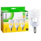 Ultra-High Brightness T2 9W, 11W, 15W, 20W, 25W Half Spiral CFL Lamp