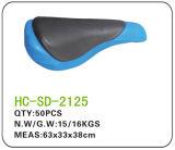 Leather BMX Saddle Black and Blue (SD-2125)