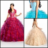 Sweetheart Organza Quinceanera Dress Fashion Vestidos Prom Ball Gowns Ld11520