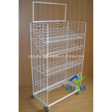 Multi Layers Adjustable Steel Wire Shelf Display Rack (PHY306)