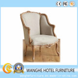 Modern Luxurious White Leather Wood Dining Chair
