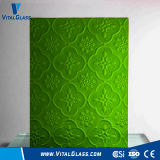 3-6mm Green Flora Patterned Glass/Mayflower Figured Glass with Ce&ISO9001