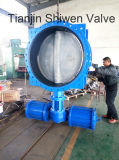 Pneumatic Actuated Double Flanged Butterfly Valve with CF8 Disc