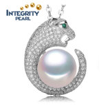 925 Sterling Silver AAA 10-11mm Natural Freshwater Pearl Pendant Necklace
