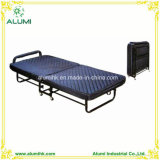 Hotel Foldable Extra Bed with Thick Mattress Blue