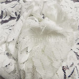 Leaves Shaped Fashion White Cotton African Fabric Lace (NF1011)