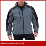 OEM Service Outdoor Mens Hooded Winter Softshell Jacket (J83)