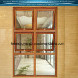 Sandalwood Colour Aluminium Top Hung Window with Double-Layer Glasses