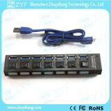 7 Switches 7 Port USB Hub 3.0 with LED (ZYF4106)