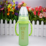 6oz 180ml Thermal Silica Gel Baby Glass Bottle