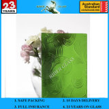 3-8mm En12150 Clear Colored Plant Green Mayflower Pattern Patterned Glass with AS/NZS 2208