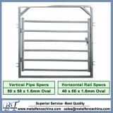 Galvanized 6 Bars Steel Cattle Yard Panels, Heavy Duty Used Livestock Fence Panels