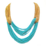 Mix Color Iron Metal Chain Fashion Jewelry Necklace (HNK-11632)