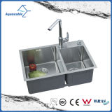 Undermount Man-Made Stainlesss Kitchen Sink (ACS6845B2)