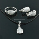 925 Sterling Silver Micro-Insets Fashion Jewelry Sets