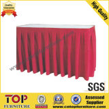 Classy Polyester Rectangle Banquet Table Skirt