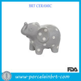Dots Elephant Porcelain Money Bank