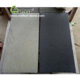 Honed or Bushhammered Hainan Black Basalt for Walling and Flooring