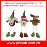 Christmas Decoration (ZY14Y332-1-2-3) Christmas Stuffed Doll Promotion Item