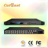 8CH AV to DVB-C Modulator with 1 Tuner Input Multiplexeing, DVB-C RF out