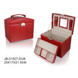 Luxury Classic Design Red Leather Jewelry Box