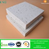 Crystal White Solid Quartz Stone with Chips for Kitchen Countertop